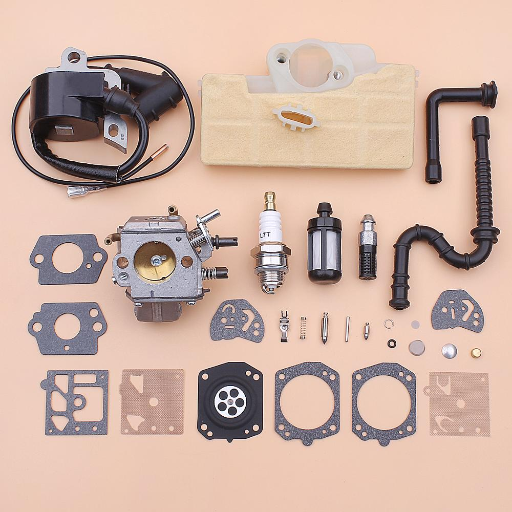 Carburetor Ignition Coil Diaphragm Kit For Stihl MS390 MS290 MS310 039 029 Air Fuel Oil Filter Line Spark Plug Chainsaw