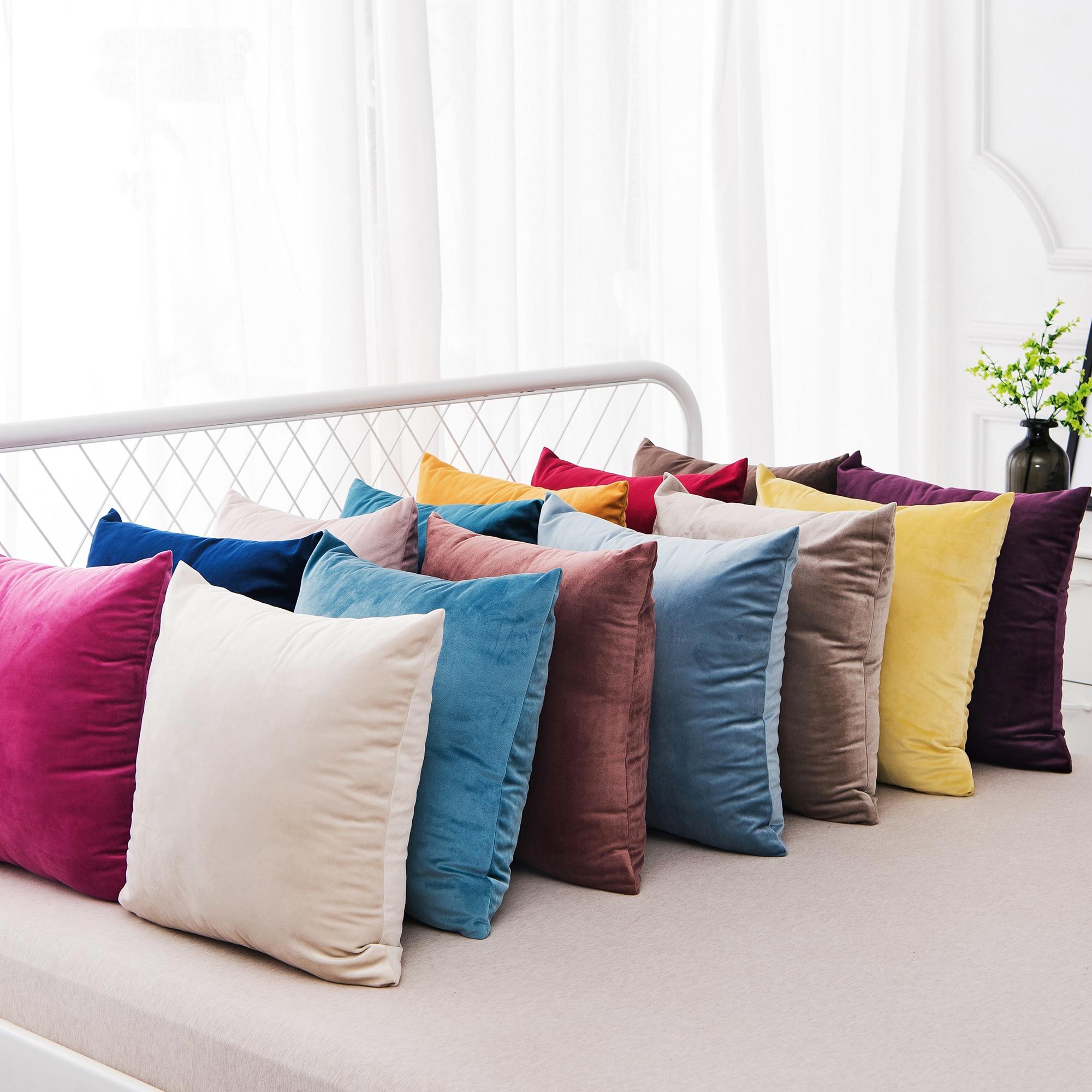 Velvet Cushion Cover Pillow Cover Pillow Case Sofa Throw Pillowcase Decorative