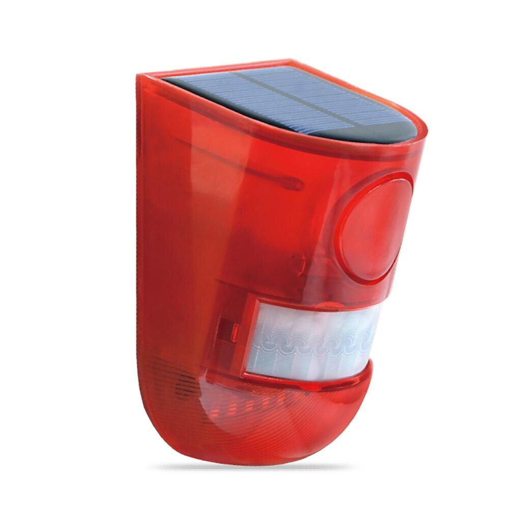 Solar Motion Sensor Alarm Light led Strobe Warning Light 129 Decibels Siren Solar Lamp Outdoor Emergency Alert Lamp For Home