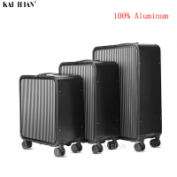 16''20 24 inch 100% aluminium suitcase Cabin travel trolley luggage business bag on wheel TAS LOCK carry on rolling luggage
