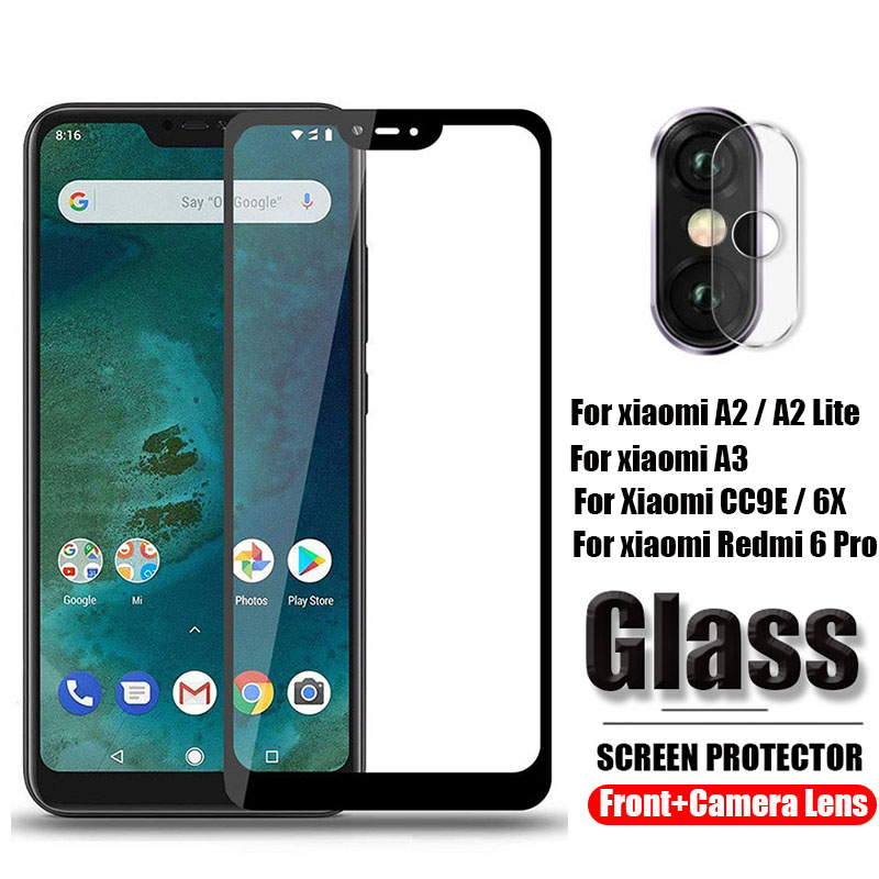 2 in 1 Camera <font><b>Lens</b></font> Protective Glass for <font><b>Xiaomi</b></font> <font><b>Mi</b></font> <font><b>A2</b></font> A3 Lite Tempered Glass for <font><b>Xiaomi</b></font> 6X <font><b>Mi</b></font> CC9E redmi 6 pro Screen <font><b>Protector</b></font> image