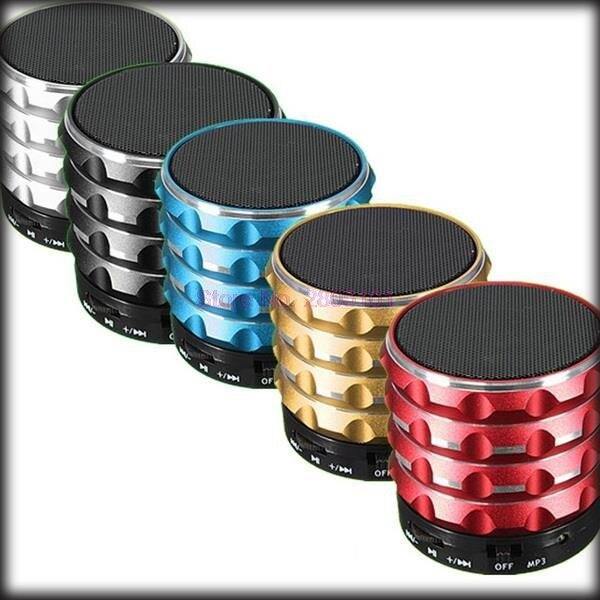 Durch dhl oder ems 20 stück Tragbare Mini Bluetooth Lautsprecher Metall Aluminium Wireless Smart Lautsprecher Mit MP3 Player Unterstützung SD/TF Karte