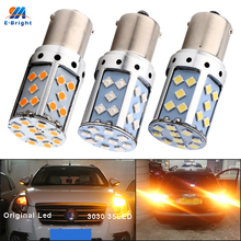 YM luces de giro para coche, LED Canbus P21W BA15S PY21W BAU15S 3030 35 SMD 1156, sin errores, 12V CC, sin hiperflash, ámbar, rojo, 2 uds.