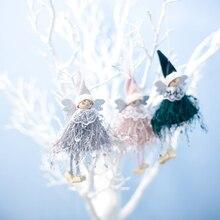 Украшения для рождественской елки, милые кукольные подвесные украшения, искусственный цветы, Новогодняя Рождественская елка, Декор, подарок для детей, Прямая поставка