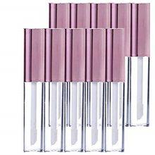 Tubes pour brillant à lèvres avec baguette, vide en plastique pour maquillage, réutilisable, 10ml/0.34, Pack de 10 bouteilles pour rouge à lèvres, or Rose