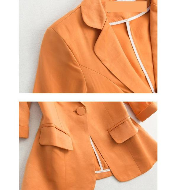 2021 Early Autumn Fashion Women's Coat White Black Blazers Notched Pockets Office Lady Women Short Blazers And Jackets long slee 6
