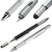 Caneta esferográfica 6 em 1, ferramenta multifuncional com chave de fenda, caneta e caneta esferográfica de tamanho cor