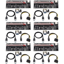 1x-To-16x-Adapter Mining Pci Express with Usb-3.0 Cable Sata-To-6pin for Ver009s-Plus