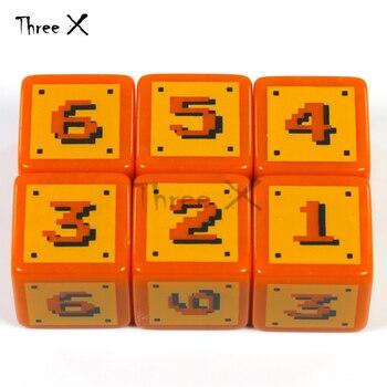 6 סגנון של לוגו 18mm דיגיטלי D6 קוביות סט 6 יחסט, פלסטיק 6 צדדי קוביית עבור פוקר כרטיס משחק/חינוך הימורים, לוח משחק