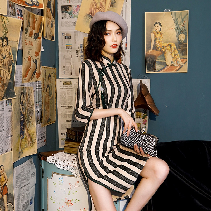 Spring And Autumn Young Literature And Art 2019 Retro Chinese Style Short Dress