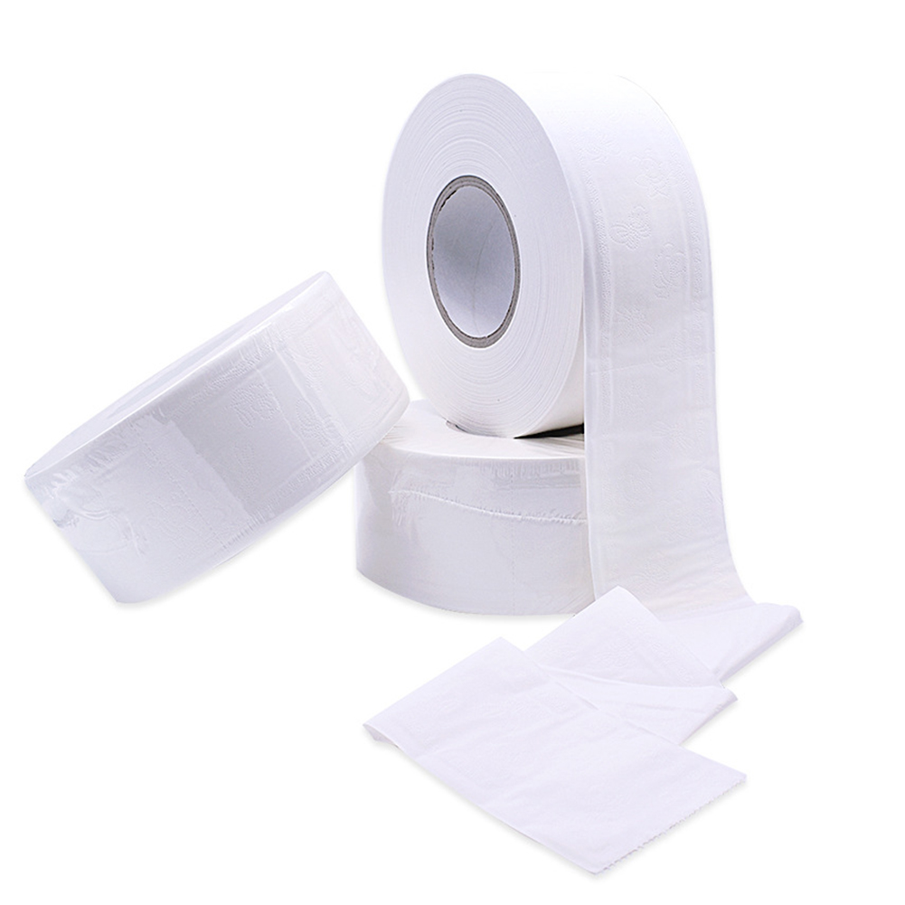 1 Roll 4-ply Paper Tissue Toilet Roll Paper Public Hotel Commercial Use IK88
