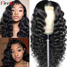 30 Inch Malaysian Loose Deep Wave Wig Loose Deep Wave Lace Closure Wig Human Hair For Black Women Pre Plucked Bleached Knots Wig
