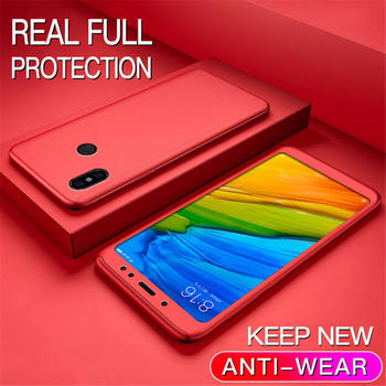 360 Degree Case For Xiaomi 5X 6X 8 Lite 9 SE A3 9T Phone Shell Redmi 9 Note 9S 8 8T 7 6 5 Pro 7A 8A 9A 9C Full Cover With Glass - Redmi Note 6 or Pro, Rd