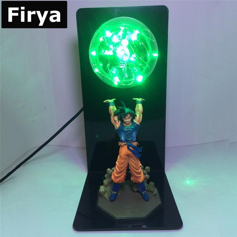 Firya Goku Kamehameha Lamp Dragon Ball Z Son Genki DamaSpirit Bomb Cloud DIY LED Night Light Anime DBZ Table Action Figure Doll