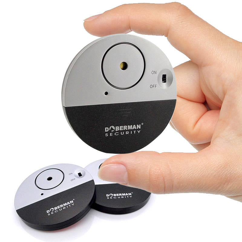 DOBERMAN 100dB Wireless Electronic Vibration Detector Cabinet Door Window Vibration Sensor Alert Security Alarm Detector