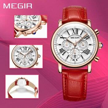 MEGIR Mode Vrouwen Armband Horloges Top Brand Luxe Dames Quartz Horloge Klok Voor Liefhebbers Relogio Feminino Sport Horloges
