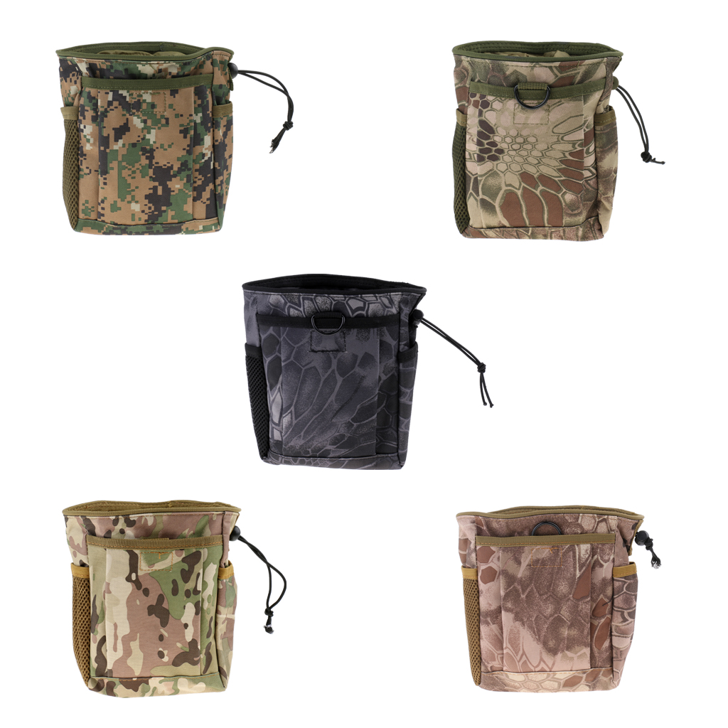 MOLLE Pouch Drawstring Dump Drop Bag Utility Outdoor Hunting Magazine Pouch For Outdoor Camping Hiking Accessories