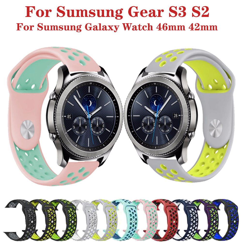 20 22mm Wrist Strap For Samsung Gear S2 S3 Frontier Classic Band For Huami Amazfit Bip Huawei GT 2 Galaxy Watch Active 42 46mm