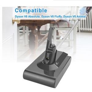 Image 5 - 1pc di Alta Qualità 4000mAh 21.6V Li Ion BATTERIA Vacuum Cleaner Batteria Ricaricabile Per Dyson V8 Assoluto V8 Animale 4.0Ah