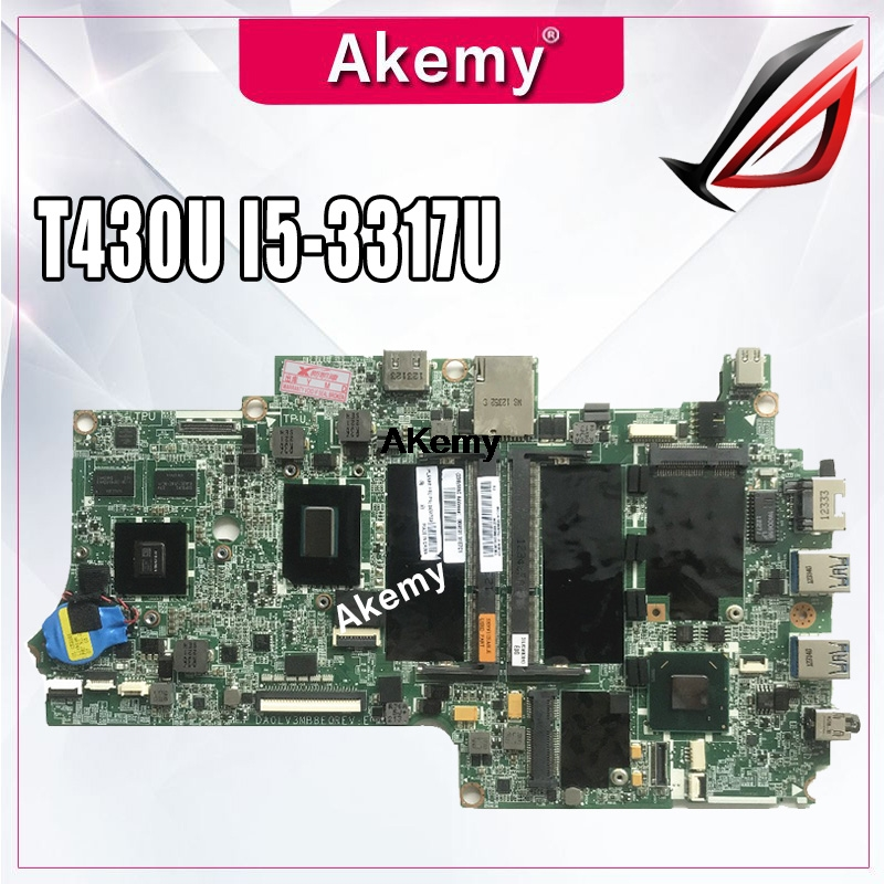 Laptop motherboard for <font><b>Lenovo</b></font> Thinkpad <font><b>T430U</b></font> Test original mainboard I5-3317U/3337U GT620M image