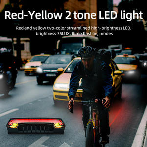 Image 5 - Smart Brake Bicycle Light Meilan X5 USB Rechargeable Bike Laser Light Turn Signal taillight Wireless Remote Control Rear Lamp