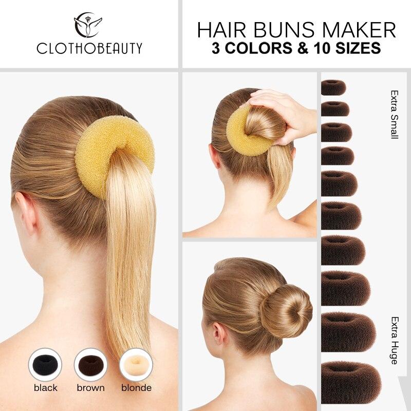 Clothobeauty 1 Piece Hair Buns Donut Maker Women Chignon Hair Buns Maker Ring Style Hair Doughnut Buns Builder Dance Buns Styling Accessories Aliexpress