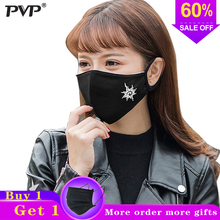 цены 1Pcs Fashion Black Luminous Mouth Mask Anti Dust Mask Filter Windproof Mouth-muffle Bacteria Proof Flu Face Masks Care Reusable