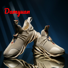 Damyuan 2019 New Autumn Men Shoes Casual Blade Sneakers Flexible Sole Red-crowned Crane Embroidery Totems Zapatos De Hombre