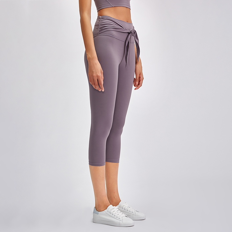 NWT Women Squat Proof High Waist Workout Fitness Capri  Butter Soft Nylon Training Yoga Sport Cropped Capris