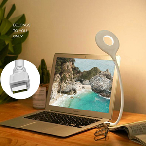 Настольная лампа с USB разъемом, складной портативный светодиодный светильник без мерцания, мягсветильник, энергосберегающий, для защиты глаз от близорукости|Настольные лампы|   | АлиЭкспресс
