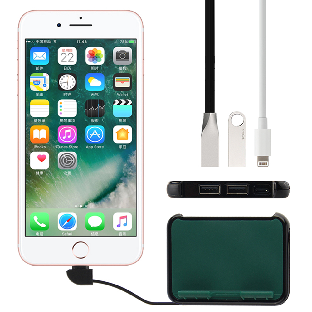 Lightning To USB Adapter For IPhone IPad IOS 13 Pen Drive Keyboard Mouse Connector Multi-Port USB 3.0 Hub Apple USB OTG Adapter
