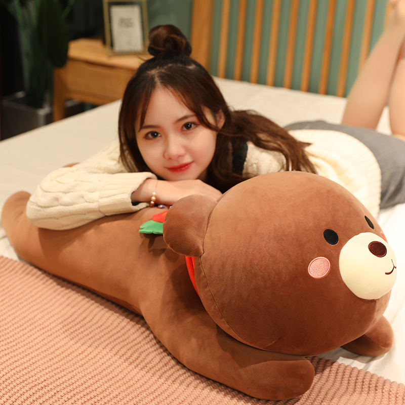 Strawberry Bear Plush Toys Stuffed Animals Crossing Cute Teddy Bear Sleep Pillow Home Decor Birthday Gifts For Girls Kids Just6F
