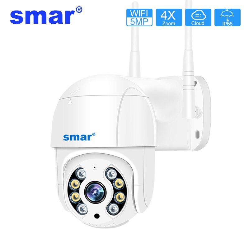 5MP cámara PTZ con Wifi H.265 3MP seguimiento automático de humanos de detección inalámbrica cámara IP al aire libre 2MP 4X Zoom Digital ONVIF cámara de seguridad