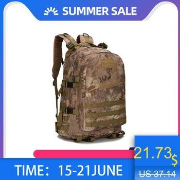 1000D Nylon 40L Mochila para hombres mujeres ejército de camuflaje bolsas Mochila Militar bolsas de viaje Casual bolsas impermeables