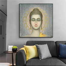 GOODECOR Buddha Wall Art Canvas Painting Printed Giclee Printing Modern Home Decor Pictures no frame Poster Prints