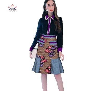 Women african dress ankara styles Dashiki Full Sleeve Print Dress Traditional African Cloth Africa sweet Dress For Women WY2659