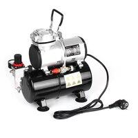 KKmoon Professional 1/6 HP Piston Airbrush Compressor Oil less Quiet High pressure Pump Tattoo Manicure Spraying Air Compressor