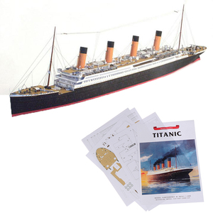 New 1:400 DIY Handcraft Titanic Ship Toys For Children Kids 3D Paper Model Sets