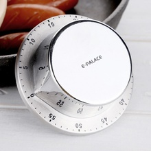 New 1pc Stainless Steel Round Kitchen Timer Alarm Clock Reminder Magnetic Gadget  Multifunction