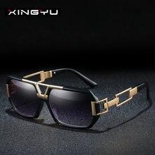 Xingyu винтажные квадратные солнечные очки в стиле панк ретро