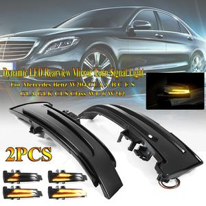 2Pieces Dynamic Turn Signal LED Light Side Mirror Indicator For Mercedes Benz W204 CLA A B C E S GLA GLK CLS Class W176 W212 LED