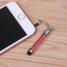 1 шт Алмазная кристальная ручка стилус для сенсорного экрана 3,5 мм заглушка от пыли 2 в 1 для мобильного телефона для планшета
