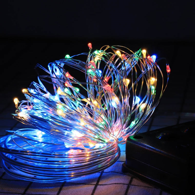 10m/20m LED String Lights LED Outdoor Solar Lamp Solar String Lights Wire Lights Fairy Holiday Christmas Party Garland Solar