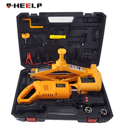 E-HEELP 3 Ton Car Electric Scissor Jack with Impact Wrench Automatic Lifting Tool Car Lift Jack Tool Set & Easy To Carry A04