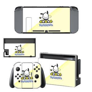 Image 2 - Vinil ekran cilt Pochacco köpek koruyucu çıkartmalar Nintendo anahtarı NS konsolu için + Joy con denetleyici + standı tutucu skins