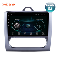 Seicane For 2004 2005 2006 2011 Ford Focus Exi AT Android 8.1 2 DIN 9 Inch GPS Navigation Touchscreen Quad core Car Radio 3G