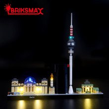 BriksMax Led Light Up Kit For Architecture Berlin TV Tower Building Blocks Compatible With 21027 (NOT Include Model)