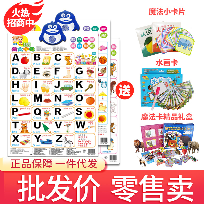 KL Figure Touch Voiced Pronunciation Wall Chart 0-3-Year-Old Early Childhood Wall Painting Hanging Painting Pinyin With Numbers