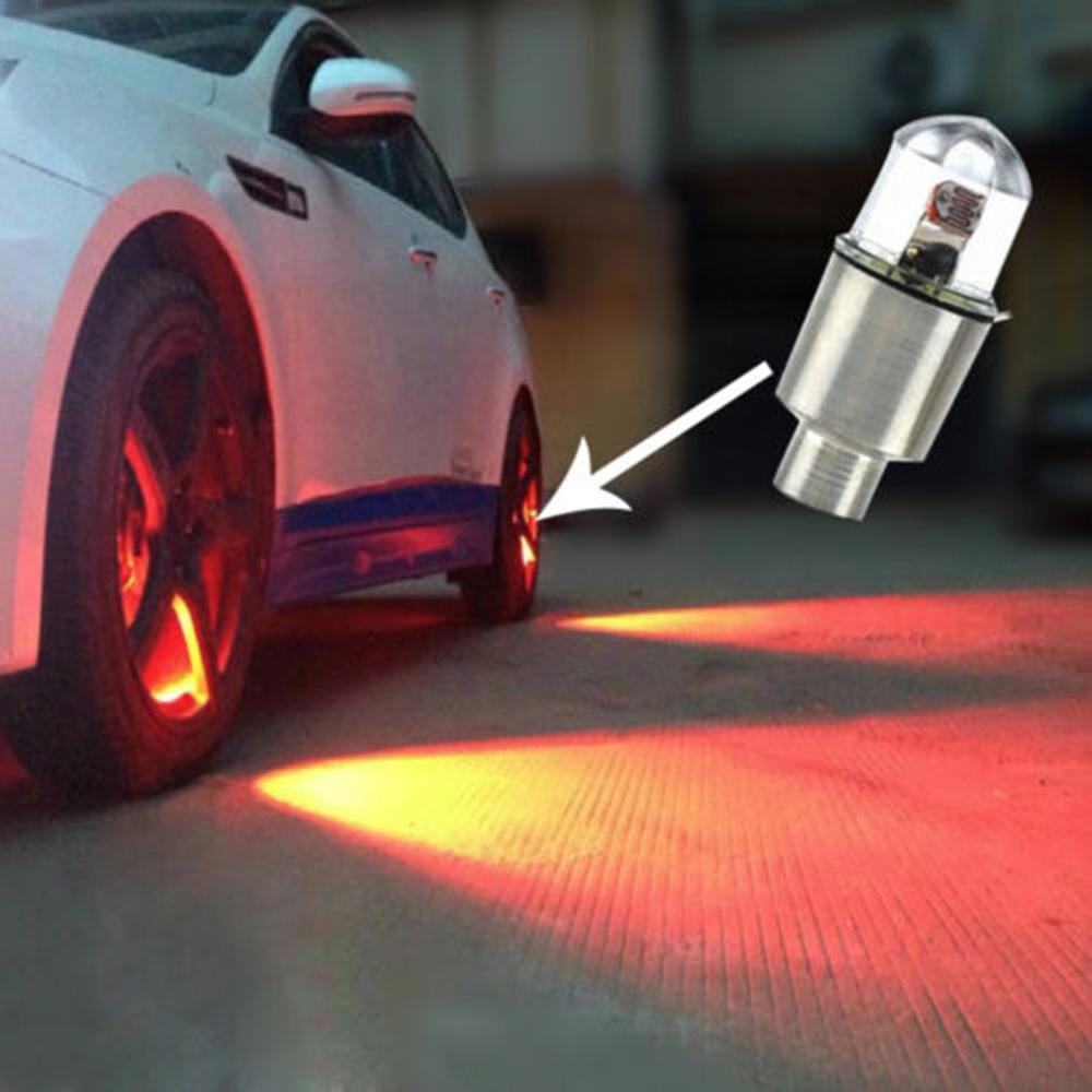 4x Car Auto SUV Wheel Tire Tyre Air Valve Stem LED Light Caps Cover Accessories Car Motorcycle Wheel LED Light Spoke Lamp