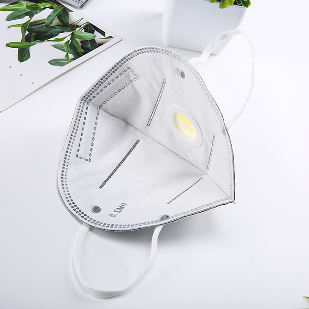 5pcs Anti-dust Medical Respirator Protection Ear-hook Anti-odor Folding Filter Anti-smog set Coronavirus Breathing 3d Windproof Mask
